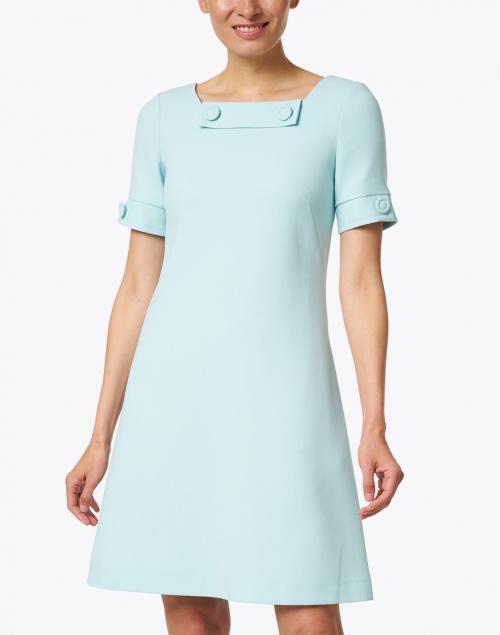 Jane - Muriel Aqua Wool Crepe Dress