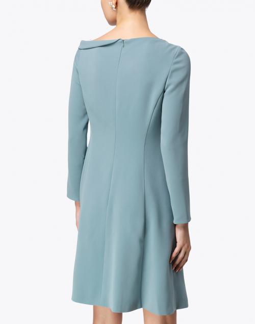 Maison Common - Sage Blue Ruched Neck Dress
