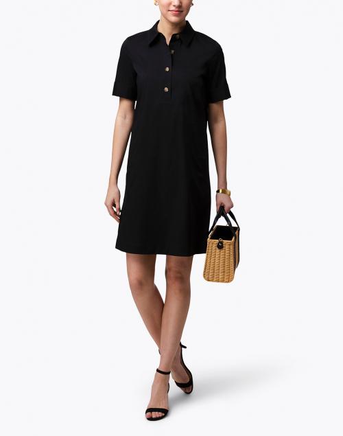 Lafayette 148 New York - Conroy Black Stretch Cotton Shirt Dress