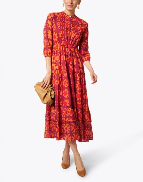 Banjanan - Bazaar Pink and Orange Shibori Cotton Voile Dress