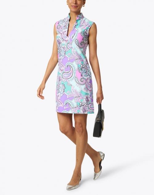 Jude Connally - Kristen Seafoam and Pink Paisley Dress