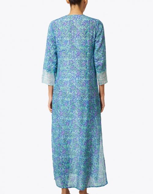 Bell - Jane Purple and Mint Print Tunic Dress