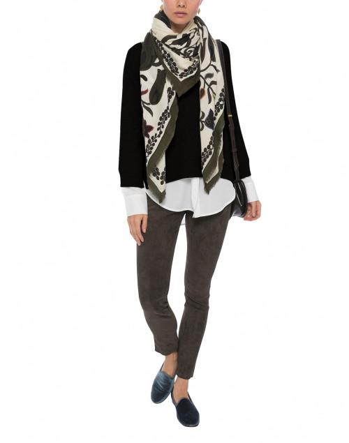 Brochu Walker - Black Sweater with White Underlayer