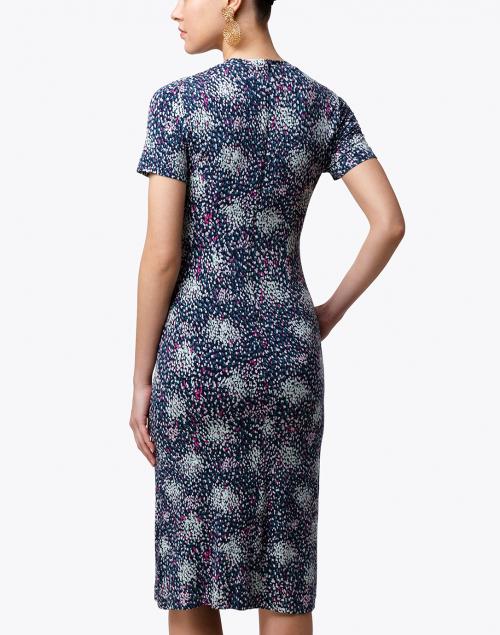 BOSS Hugo Boss - Enice Navy Printed Sheath Dress