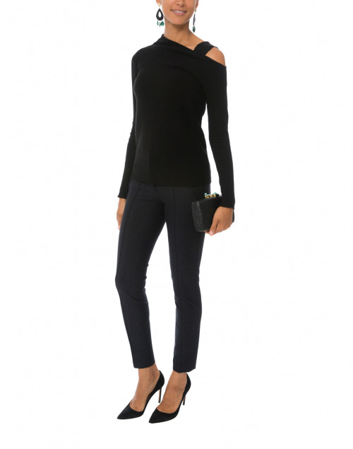 Cambio - Ros Charcoal High Recovery Stretch Ponte Pant