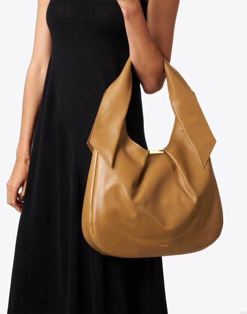 DeMellier - Milan Deep Toffee Smooth Leather Shoulder Bag