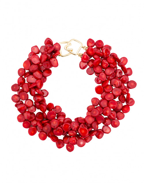 Kenneth Jay Lane - Red Coral Multi-Strand Necklace
