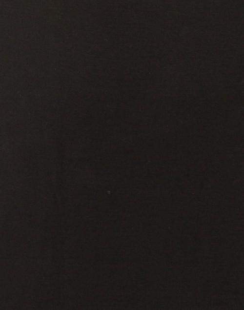Majestic Filatures - Black Scoop Neck Elbow Sleeve Stretch Viscose Top