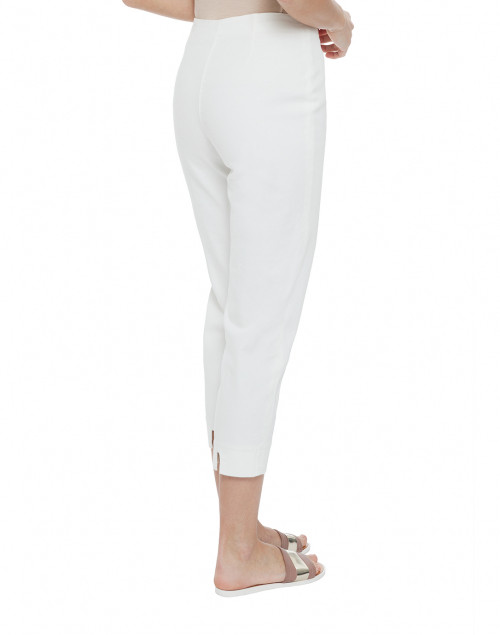 Piazza Sempione - Audrey White Stretch Cotton Capri Pant