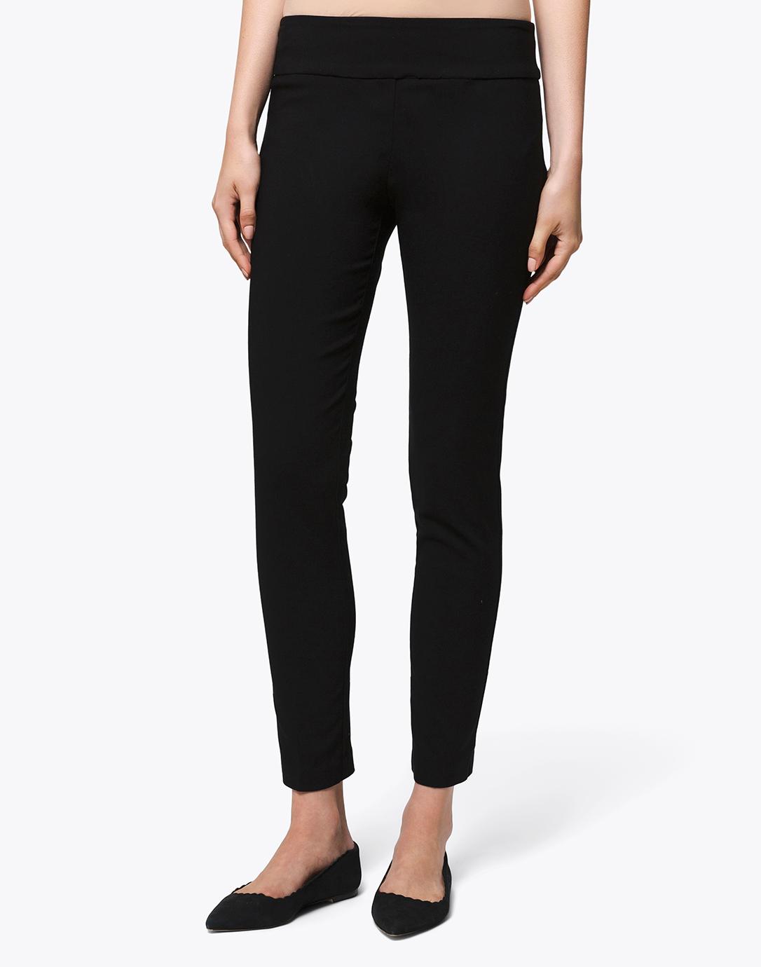 Elliott Lauren Black Stretch Pull-On Crop Pants
