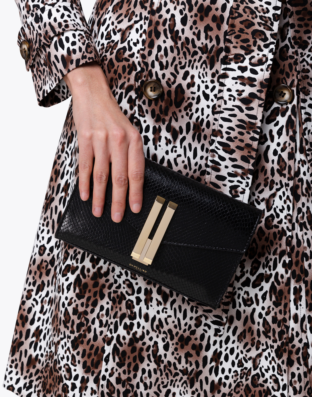 Quebec Black Snake Effect Leather Crossbody Bag | DeMellier ...