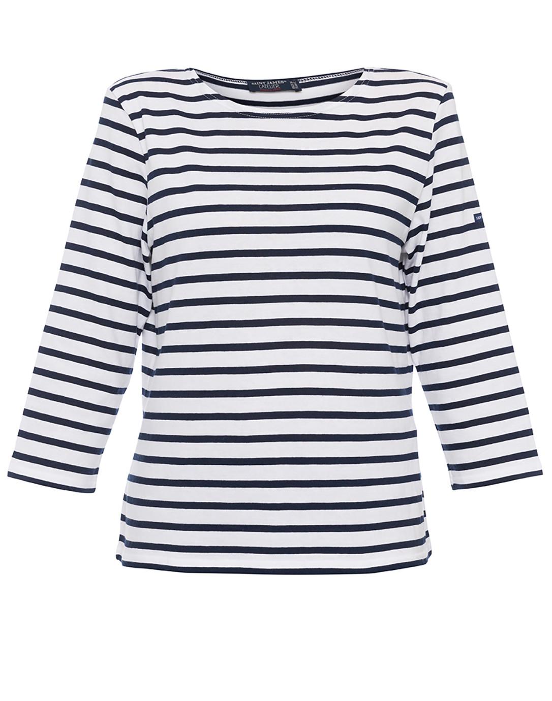 critico filtro Finito  Galathee White and Navy Striped Shirt | Saint James | Halsbrook